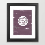 Framed Art Print featuring One Direction: Over Agai… by Holly Ent