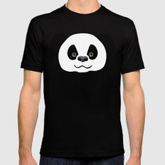 Happy Panda  Mens Fitted Tee Black SMALL