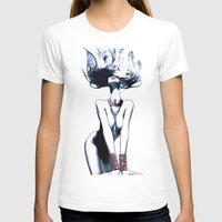 Red Jewelry Womens Fitted Tee White SMALL
