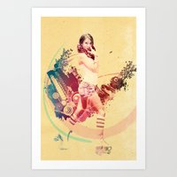 Summer Skating Jam Art Print