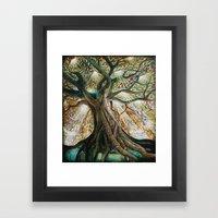 Radiant Oak Framed Art Print