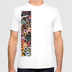 reel White Mens Fitted Tee SMALL