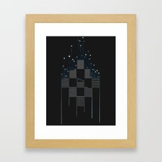 Space Flow Between Buildings Framed Art Print
