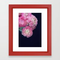 pink on black Framed Art Print