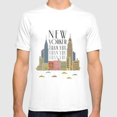New Yorker Than You White Mens Fitted Tee SMALL