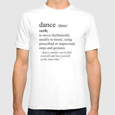Dance Mens Fitted Tee SMALL White