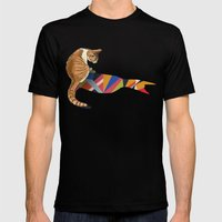 Walking Shadow, Cat 2 Mens Fitted Tee Black SMALL