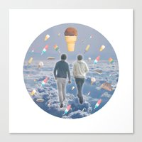 Bill & Nick's Ice Cream Adventure! Canvas Print