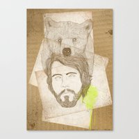 Mr.bear-d Canvas Print