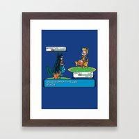 Useless Water Type Framed Art Print