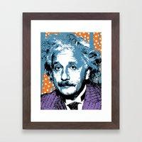 Blue Einstein Framed Art Print