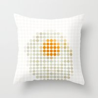 and egg. Throw Pillow