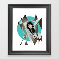 BAT FOR LASHES & The Mask Framed Art Print