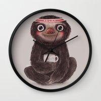 Sloth I♥lazy Wall Clock