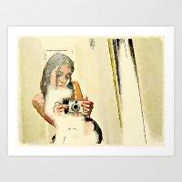 Self Portrait with Digital Camera Art Print