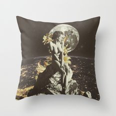 OrbitalGodess Throw Pillow