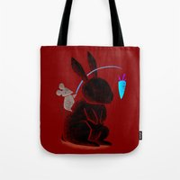 Bunny Rider Tote Bag