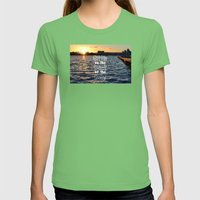 Sittin On The Dock Of Th… Womens Fitted Tee Grass SMALL