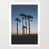 Sunset on the Beach Art Print