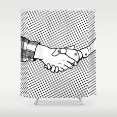 Man and Machine Shower Curtain