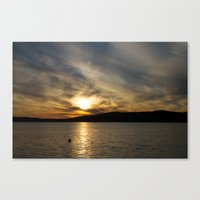 Let's watch the sun go down Canvas Print