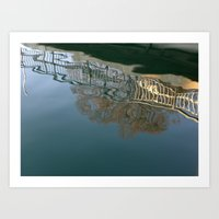 Bridge over troubled water Art Print