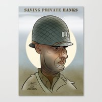Saving private Hanks Canvas Print