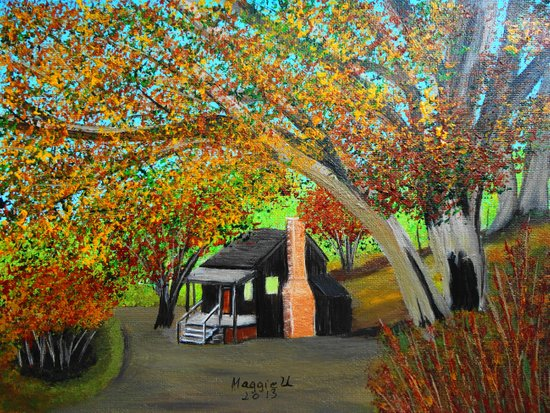 Cabin for two Art Print