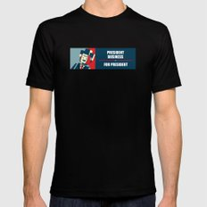 Business For President Mens Fitted Tee Black SMALL