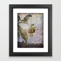 rural sky sunflower Framed Art Print