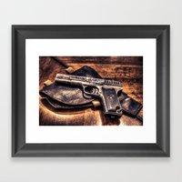 Gun HDR Framed Art Print