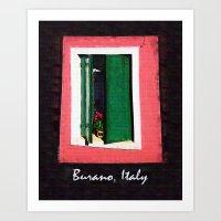 Burano Italy Art Print