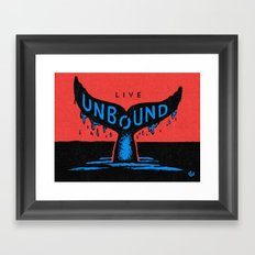 Unbound Whale Framed Art Print