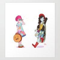 Bubblegum and Marceline Art Print