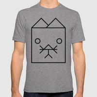 Cat Mens Fitted Tee Athletic Grey SMALL