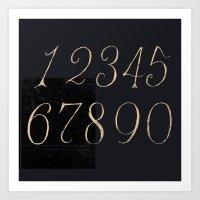 Numbers-Clock Art Print