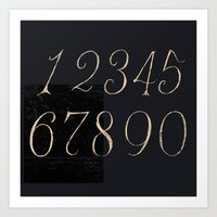 Numbers-Clock Art Print