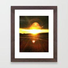 Heliosphere Rising Framed Art Print