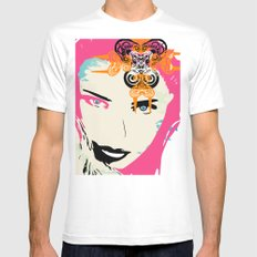 punk SMALL White Mens Fitted Tee