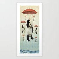 Pandachutes Art Print
