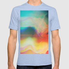 Glitch 01 Mens Fitted Tee Tri-Blue SMALL