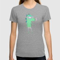 Sensasaur Womens Fitted Tee Tri-Grey SMALL