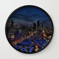The City Of Big Shoulders Wall Clock