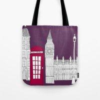 Night Sky // London Red Telephone Box Tote Bag