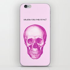 Fucsia Skull iPhone & iPod Skin
