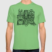 Nine Owls Mens Fitted Tee Grass SMALL