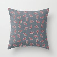 Floral Swarming  Throw Pillow