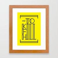 Typography & Font Framed Art Print