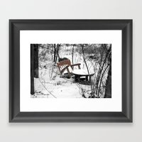 Table For One Framed Art Print
