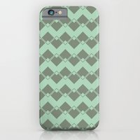 Mint Geometric Art Deco … iPhone 6 Slim Case
